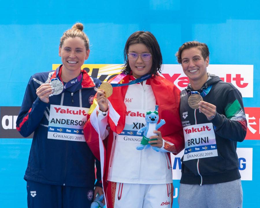 La china Xin Xin gana los 10km del mundial, clasificatorios para las Olimpiadas