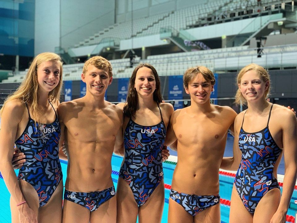 USA Team for 2019 World Junior Swimming Championships Elects 5 Captains