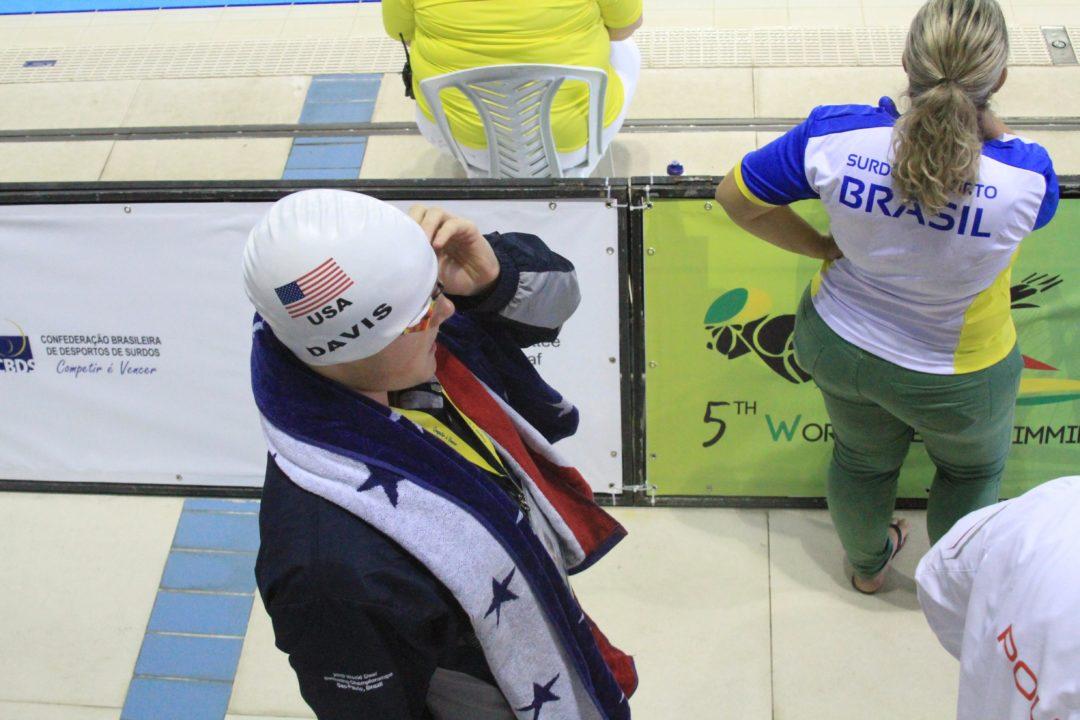 Collin Davis Breaks US Deaf Swimming Record in 500 Free