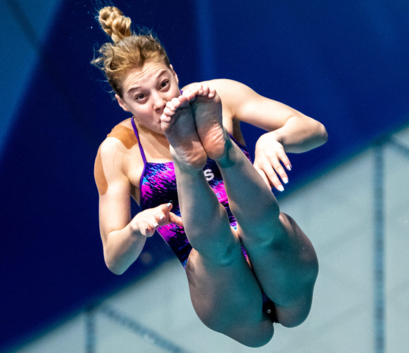 Koroleva Makes 1-Meter Final after Late Withdrawal, Wins Euro Diving Gold