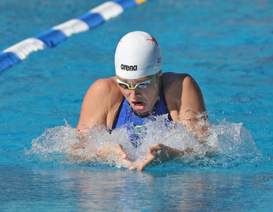 Madisyn Cox Nears Best Times in Unofficial LCM Time Trial