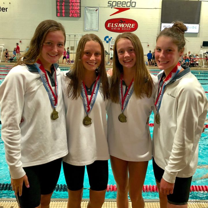 Elmbrook Swim Club Breaks 13-14 National Age Group Record in 200 Medley Relay