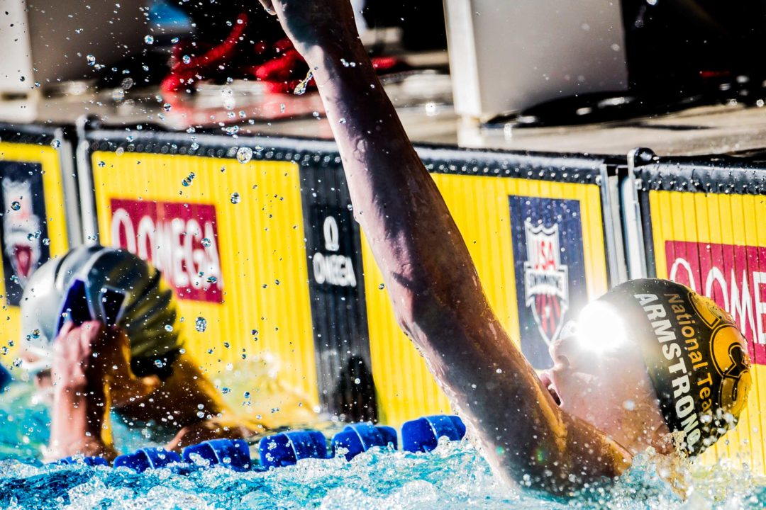 Hunter Armstrong Breaks Michael Andrew's Junior Nationals 100 Back Meet Record
