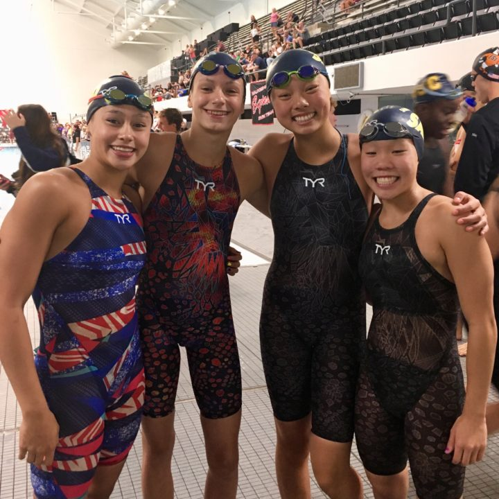 Sandpipers Take Down Girls 13-14 NAG Record in 800 Free Relay at NCSAs