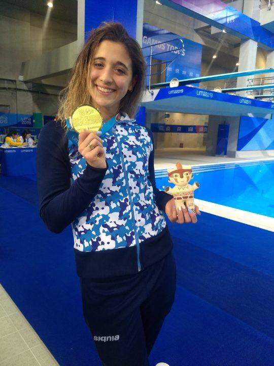Jornada histórica para la natación argentina en Lima 2019