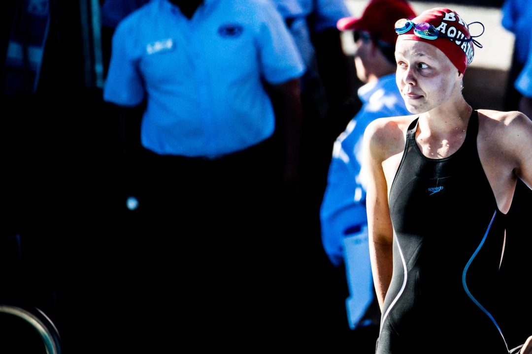 WATCH: Justina Kozan Delivers 4:05 400 IM at Juniors West