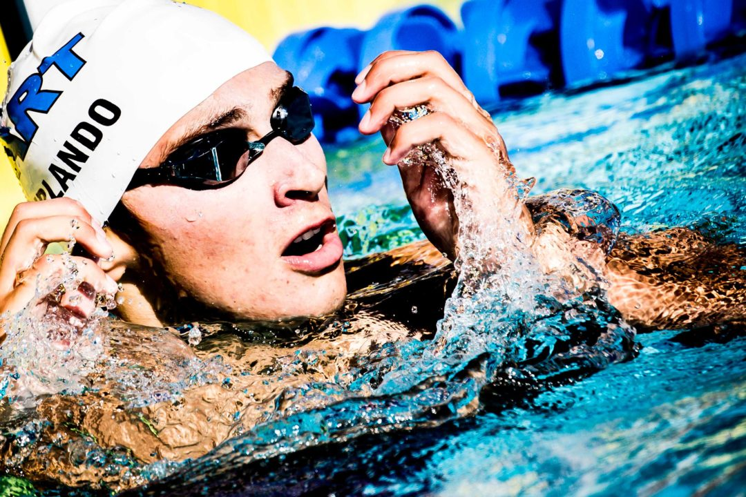 After 200 FR Gold, Jr Pan Pacs Champ Urlando Misses World Jrs Final in 100 FL