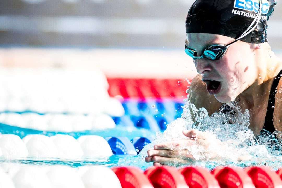 14-Year-Old Lucy Thomas Hits 1:09.35 LCM 100 Breast, #3 All-Time 13-14 Girls