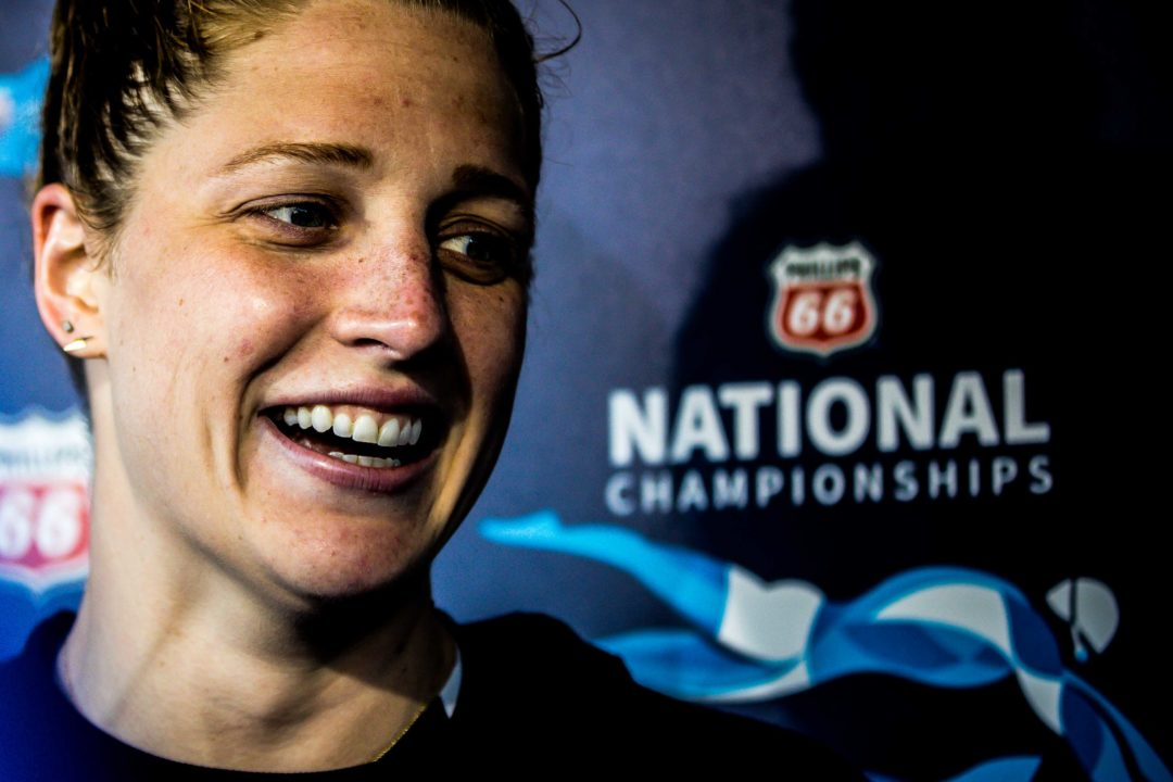 "Madisyn Cox on Training Outside: ""The outdoor pool has been life-changing"""