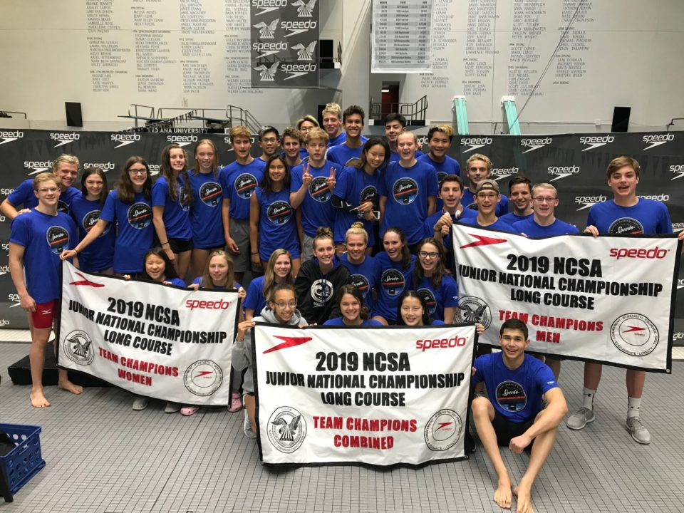 Team Banners, Individual High Point Awards for 2019 NCSA Summer Juniors