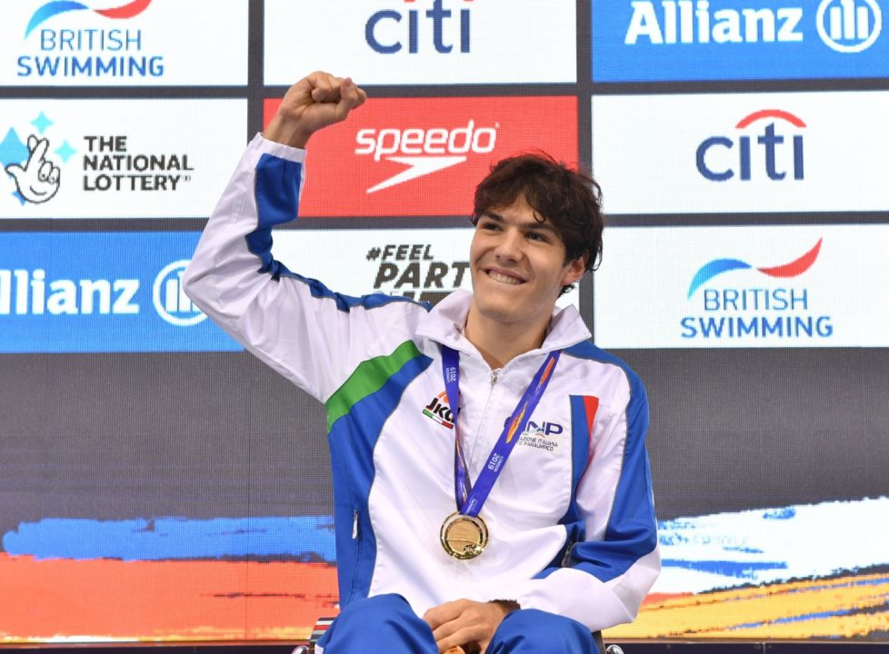 Campionati Nuoto Paralimpico Antonio Fantin Record Europeo 50 Sl
