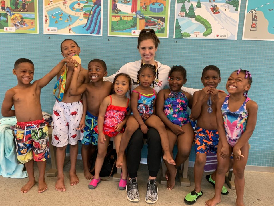 Katie Meili and Eagle Academy Team up in the Name of Drowning Prevention
