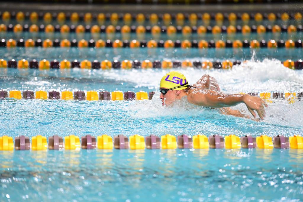 Purple Tops Gold in LSU Intrasquad Meet