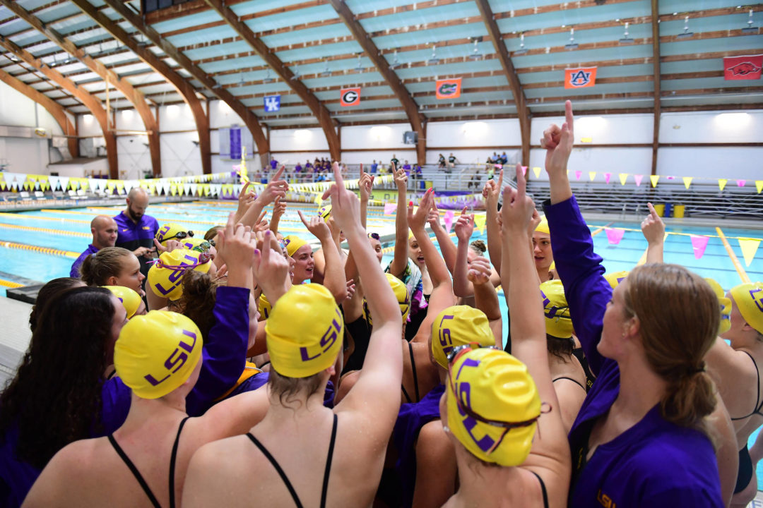 LSU Wins All But One Event in Double Dual with Houston and Rice