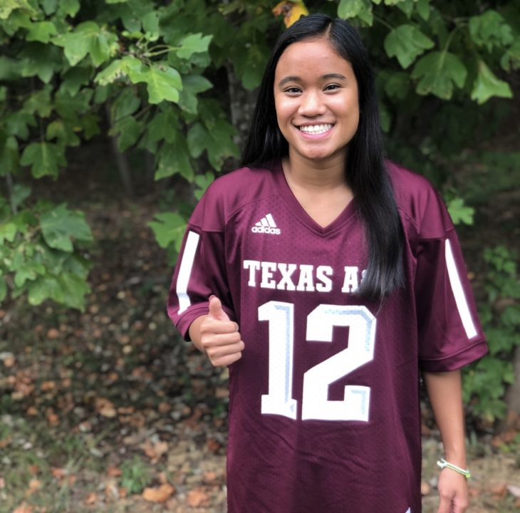 Texas A&M Earns Verbal from Philippine Record-holder Desirae Mangaoang