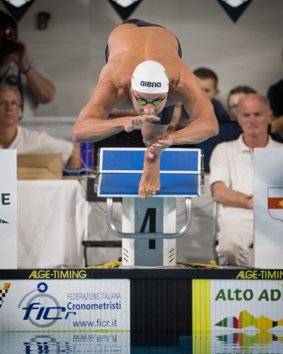Felipe Lima Subs in for Fabio Scozzoli in 50 Breaststroke in Shenzen