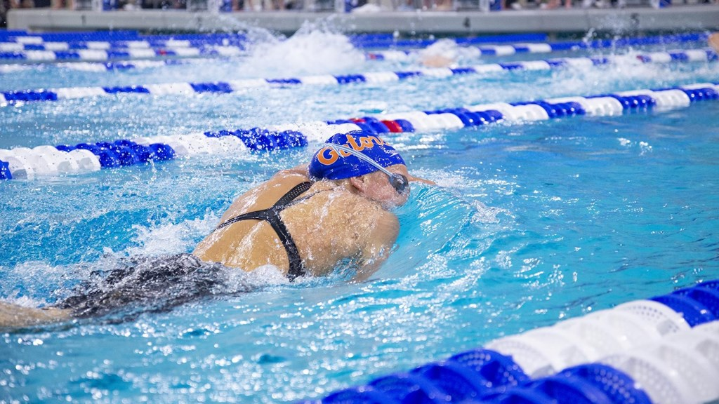 Hartman Wins Three Events, but Florida Women Defeat Georgia