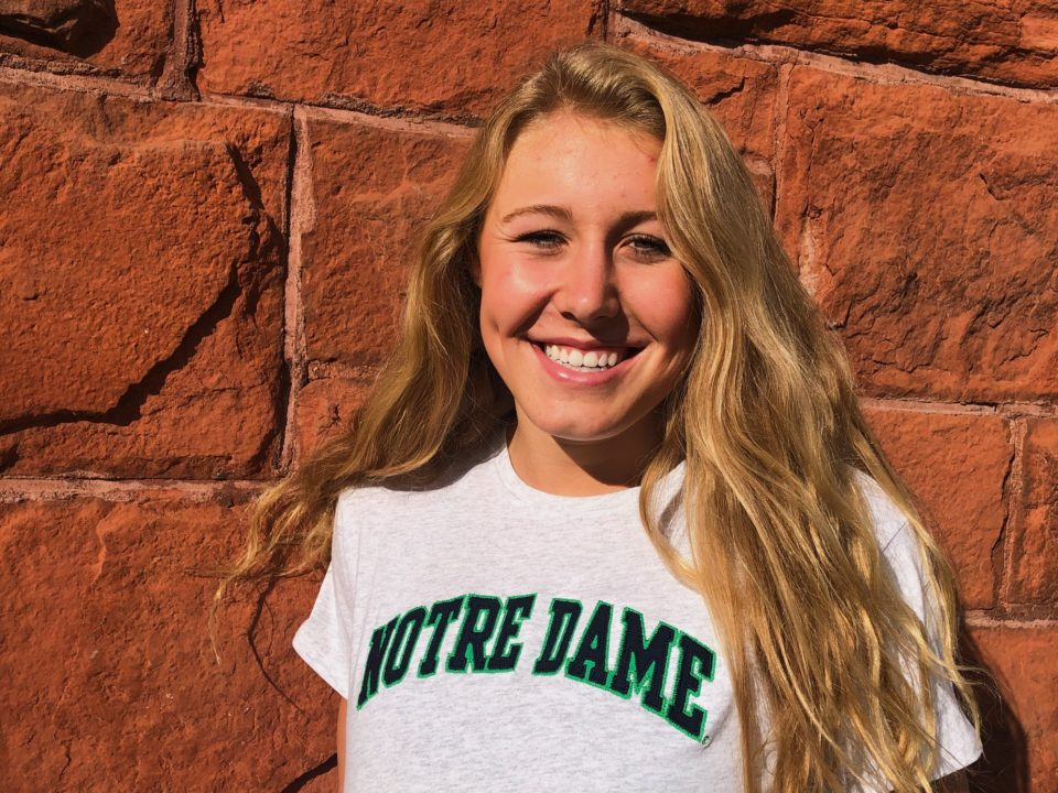 Olympic Trials Qualifier Sophia Bradac Verbally Commits to Notre Dame