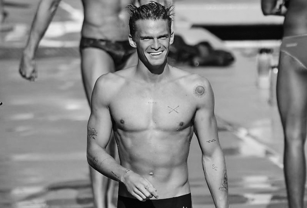 Music Sensation Cody Simpson Competes At USC Swim Meet