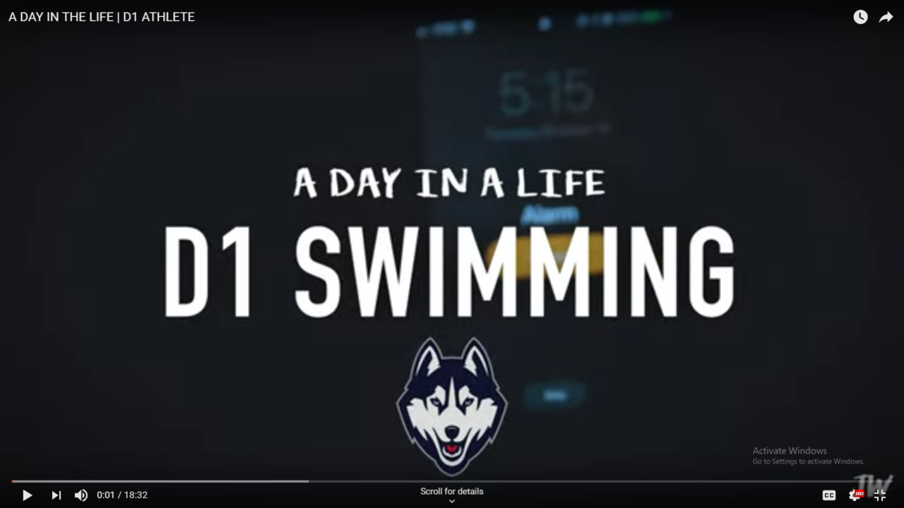 A Day in the Life of a Division I Swimmer (VIDEO)
