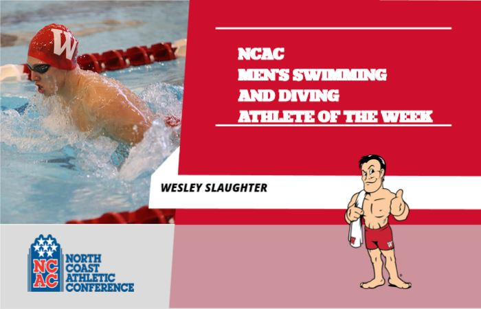 Wabash's Wesley Slaughter Named NCAC Athlete of the Week
