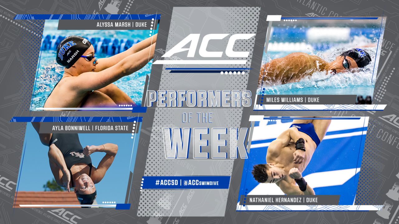 Marsh, Bonniwell Earn ACC Weekly Honors