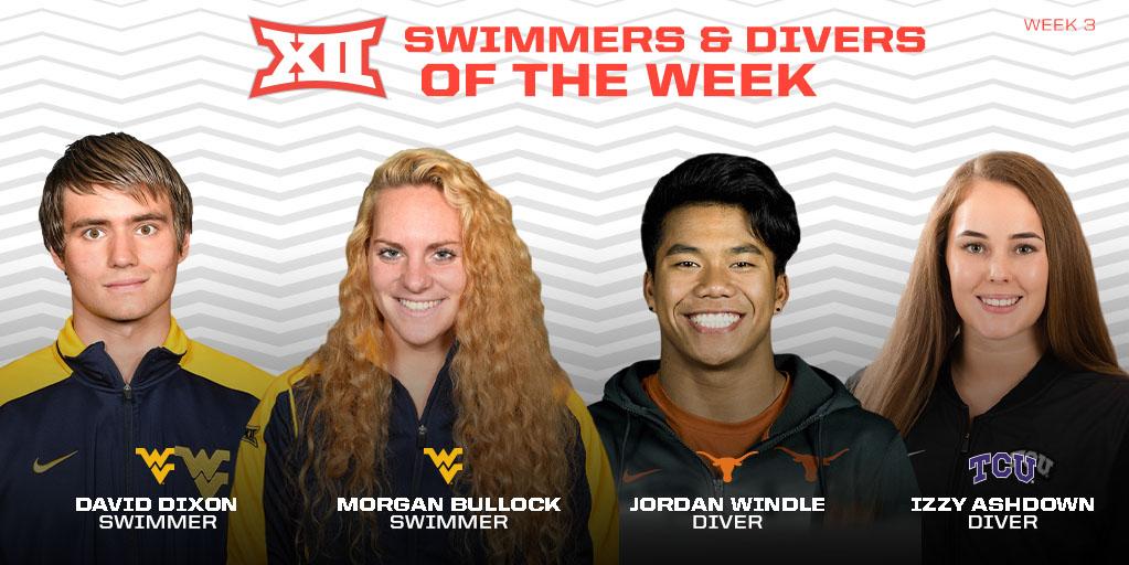 Dixon, Bullock Earn Big 12 Swimmer of the Week Honors
