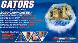2021 Gator Swim Camps – Dates Are TBA