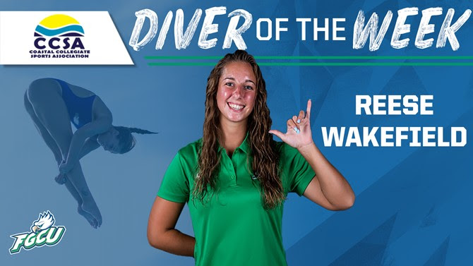 FGCU's Wakefield Named CCSA Diver of the Week