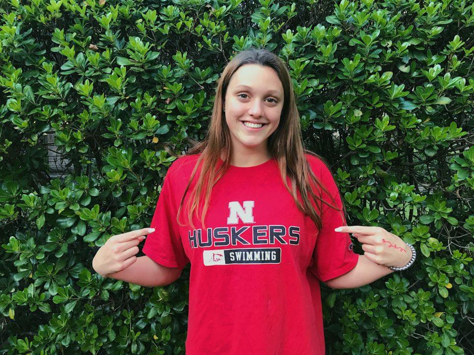 Backstroker Madi Lloyd Gives Verbal Commitment to Nebraska for 2021-22