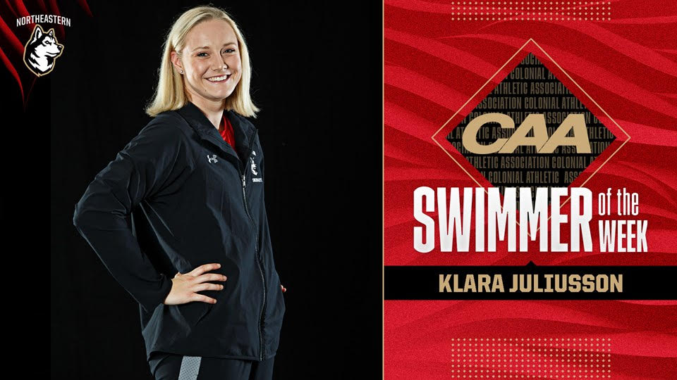 Northeastern's Juliusson, Morrison Named CAA Swimmer & Diver Of The Week