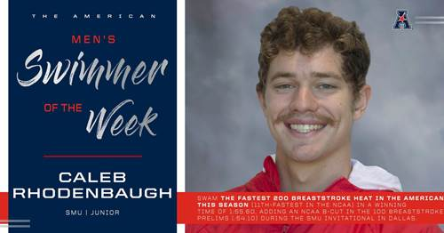 Rhodenbaugh, Smithson Win AAC Weekly Honors