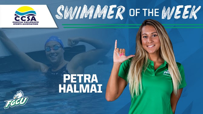 Petra Halmai Doubles In the 200 Breast and 200 Fly as FGCU Wins Home Invite