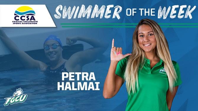 Petra Halmai Breaks 100 BR School Record at Day 2 of FGCU Invite
