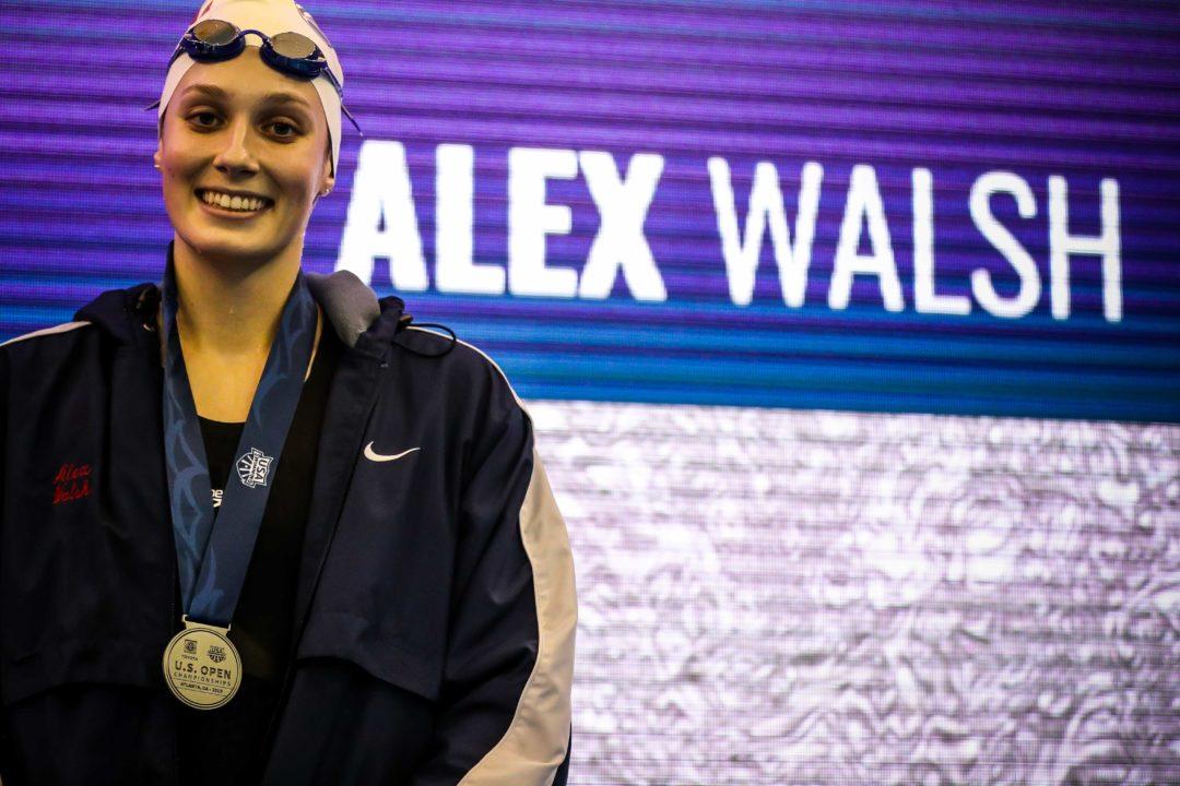 Alex Walsh Splits 26.5 Breast, Gretchen Walsh Splits 21.2 Free at 2020 TISCA