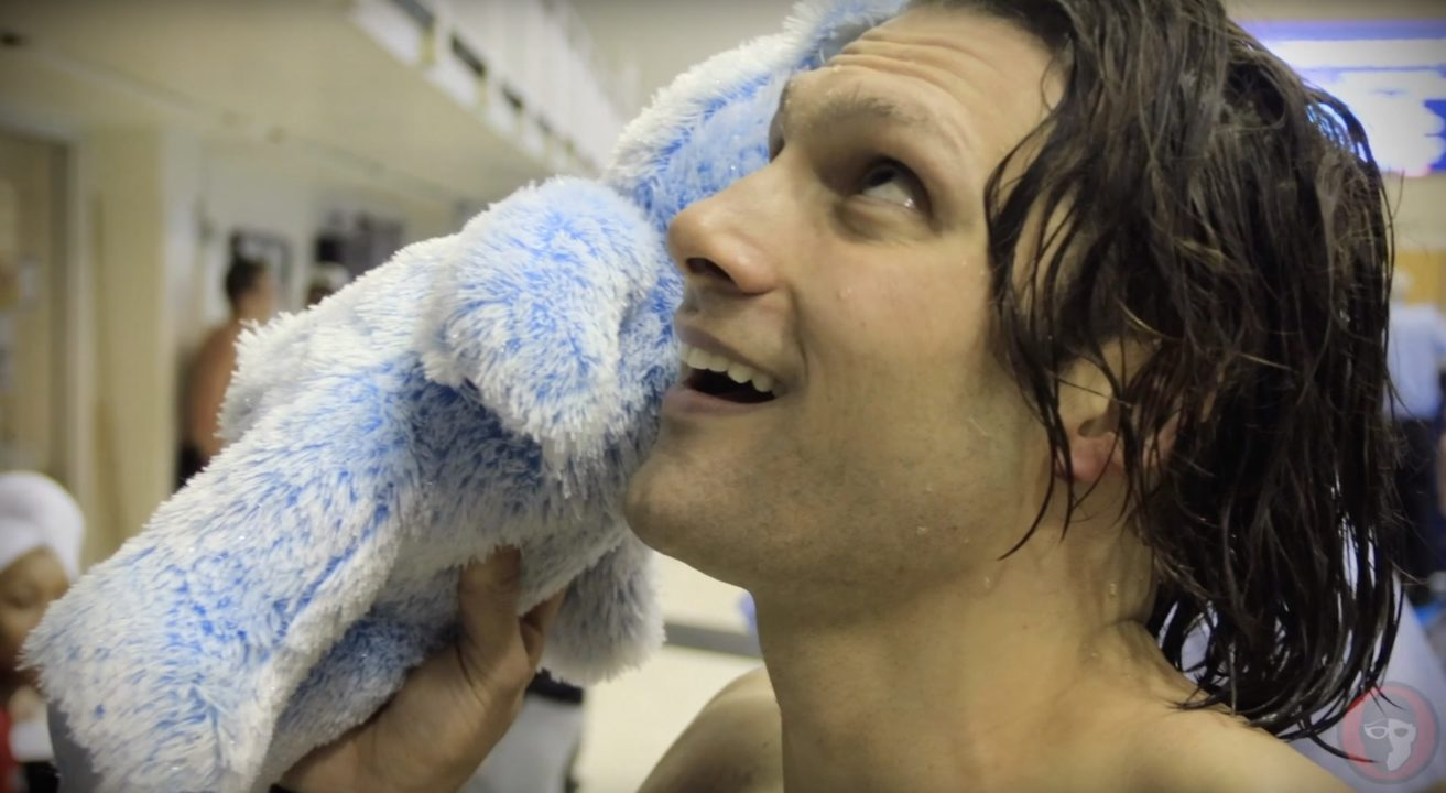 Cody Miller Signs Fan's Build-a-Bear with His Voice Inside It (Video)