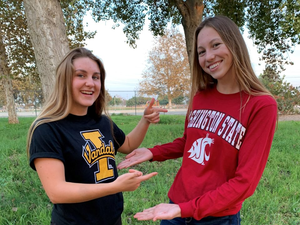 Lakewood Aquatics' Josie Liebzeit and Isabella MacLean-Cariello Sign NLIs