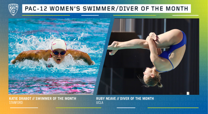 Drabot, Neave Earn Pac-12 Swimmer & Diver of the Month