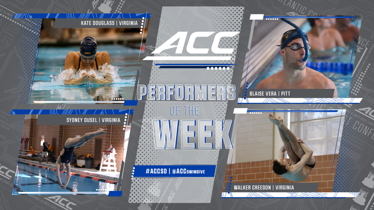 Virginia Claims Three of Four ACC Weekly Awards