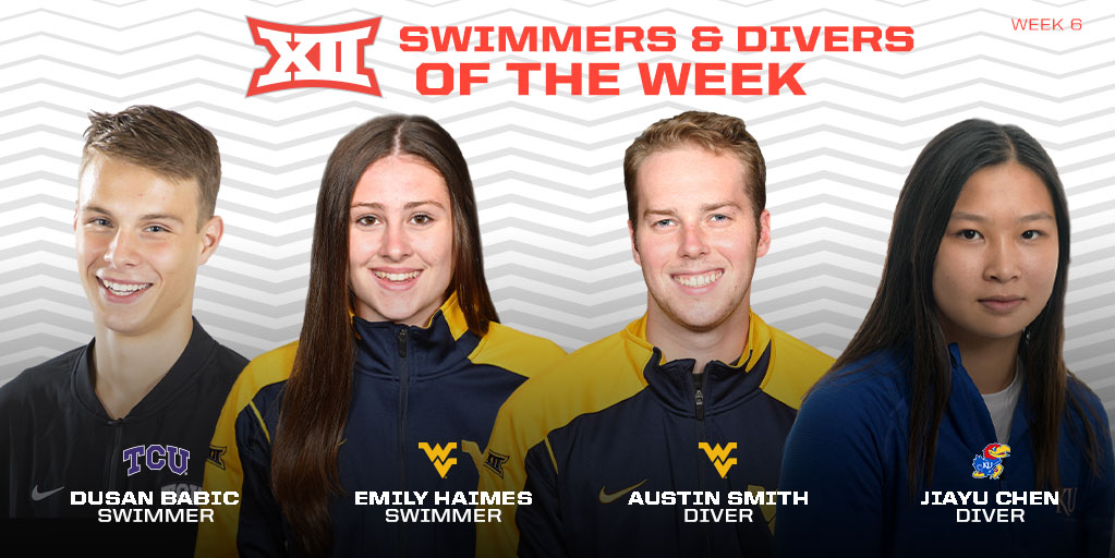 TCU's Babic, WVU's Haimes Named Big 12 Swimmers Of The Week