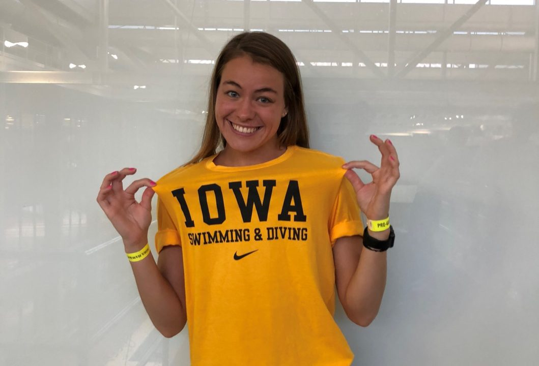 Iowa Gets Mid-season Addition from Backstroker Kennedy Gilbertson