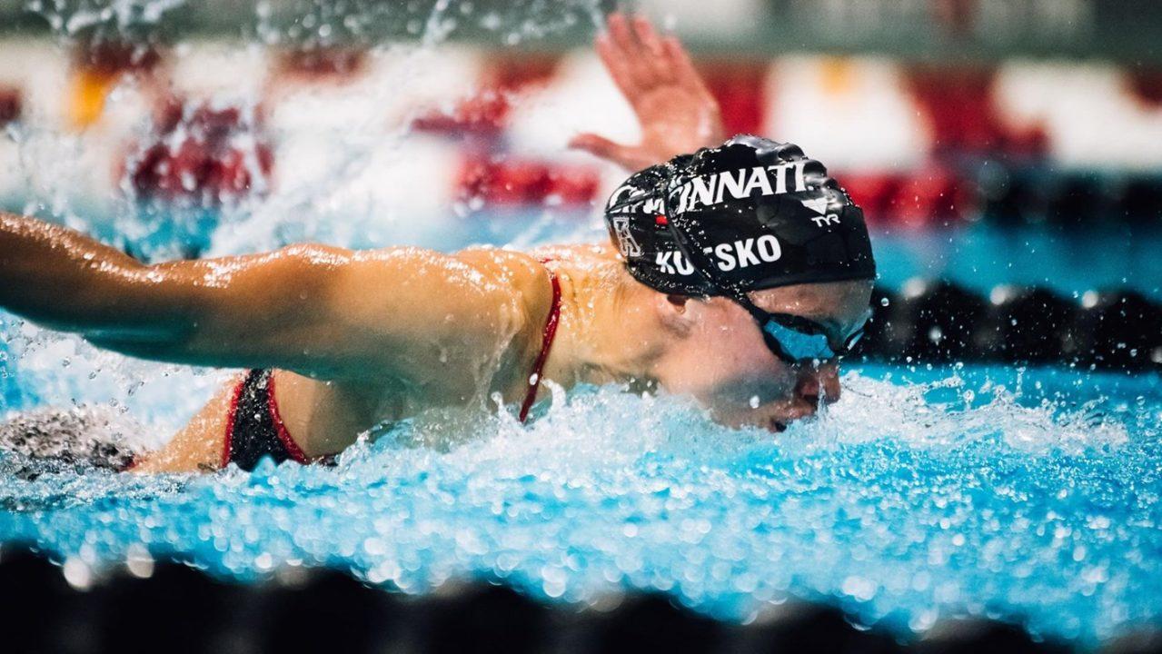 Cincinnati, SMU Claim American Swim and Dive Weekly Awards