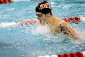 1-2-3-4-5 Finish in 500 Free Helps Propel UNLV Men to Big Lead on Day 2 of WACs
