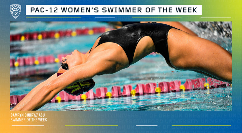 ASU's Camryn Curry Named Pac-12 Women's Swimmer of the Week