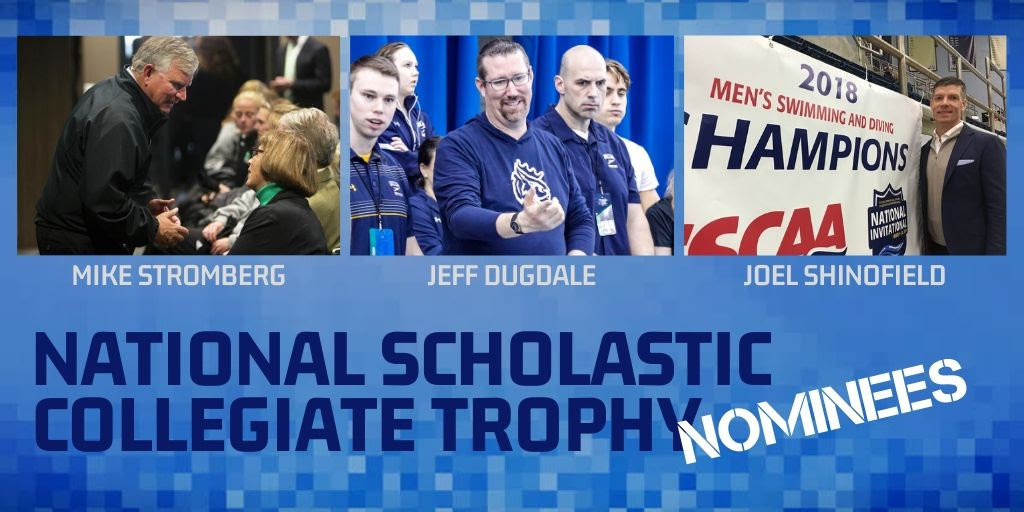 Dugdale, Shinofield, Stromberg Finalists For National Collegiate Trophy