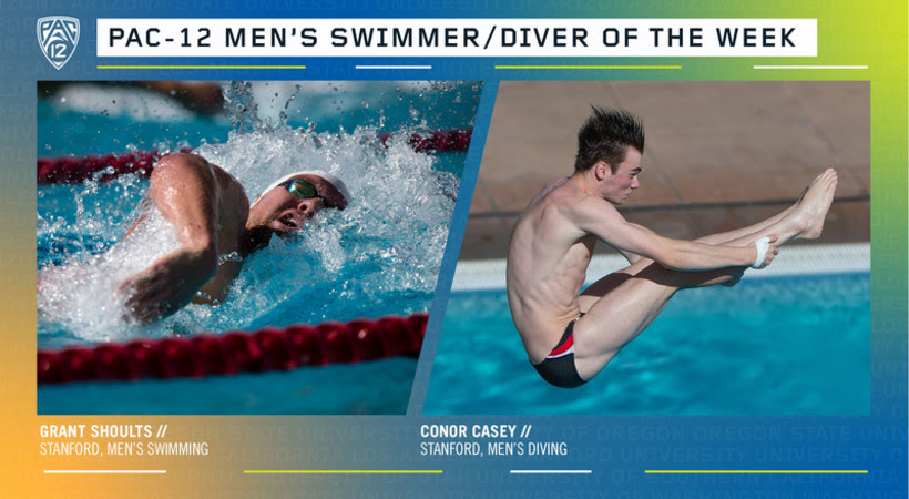 Shoults, Casey Named Pac-12 Men's Swimmer & Diver of the Week