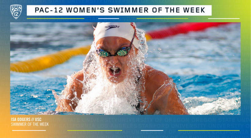 USC's Isa Odgers Named Pac-12 Women's Swimmer of the Week