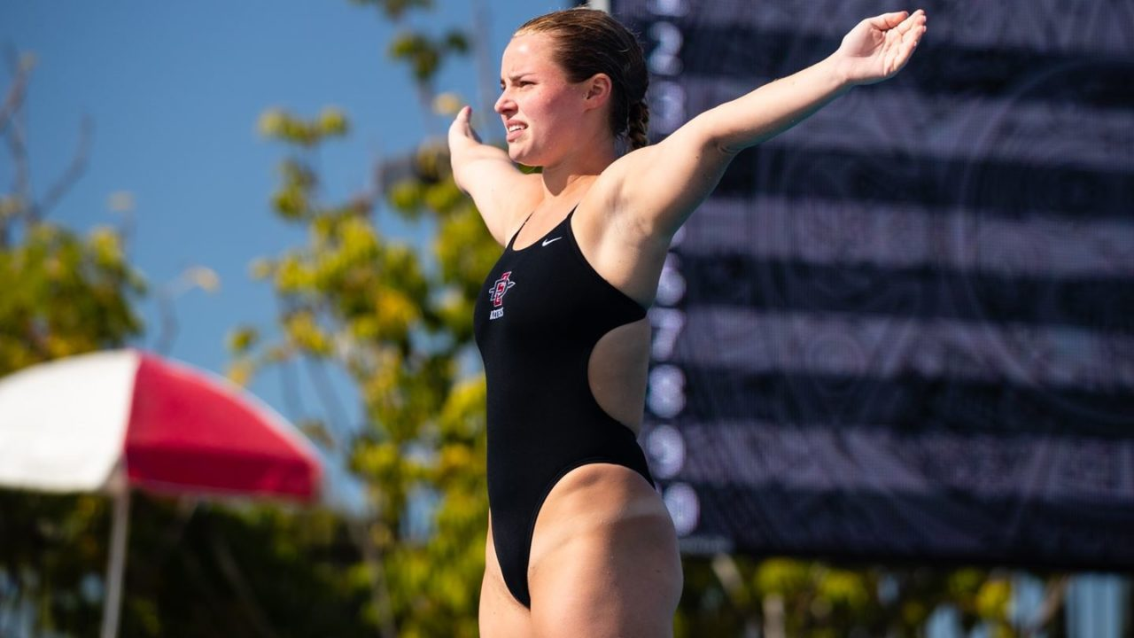 San Diego State Closes Out NAU Diving Invite With Wins