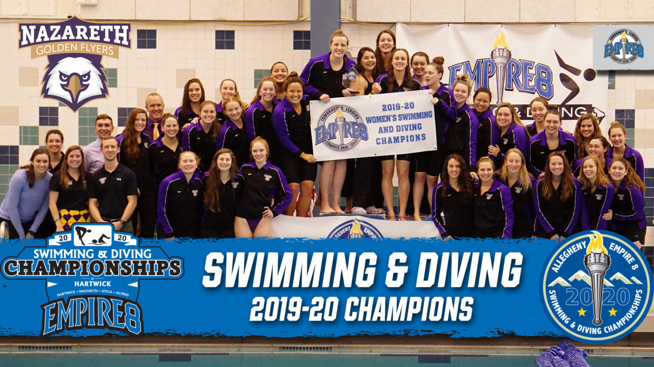 Nazareth Men & Women Win Allegheny Empire, Empire 8 Titles