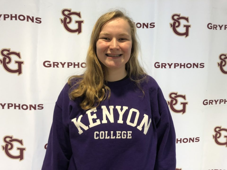 Senior Claire Epperson Commits to Swim for DIII Kenyon College